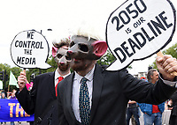 Extinction Rebellion protestors march from the Hyde Park Corner to the Department for Business, Energy & Industrial Strategy  photo by Krisztian Elek
