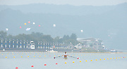 Chungju, South Korea. Sunday Heats, USA. LM1X. Andrew CAMPBELL Jr. Moves away from the start on the opening day of the 2013 FISA World Rowing Championships, Tangeum Lake International Regatta Course. 10:14:34  Sunday  25/08/2013 [Mandatory Credit. Peter Spurrier/Intersport Images]