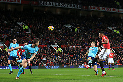 13th December 2017 - Premier League - Manchester United v Bournemouth - Anthony Martial of Man Utd misses from close range - Photo: Simon Stacpoole / Offside.