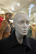 female doll mannequin with dented nose