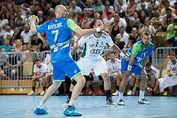 Vid Kavticnik of Slovenia during handball game between Man National Teams of Slovenia and Hungary in 2019 Man's World Championship Qualification, on June 9, 2018 in Arena Bonifika, Ljubljana, Slovenia. Photo by Urban Urbanc / Sportida