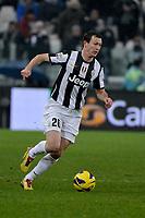 Stephan Lichtsteiner  Juventus.Calcio  Juventus vs Udinese.Campionato Serie A - Torino 19/1/2013 Juventus Stadium.Football Calcio 2012/2013.Foto Federico Tardito Insidefoto.