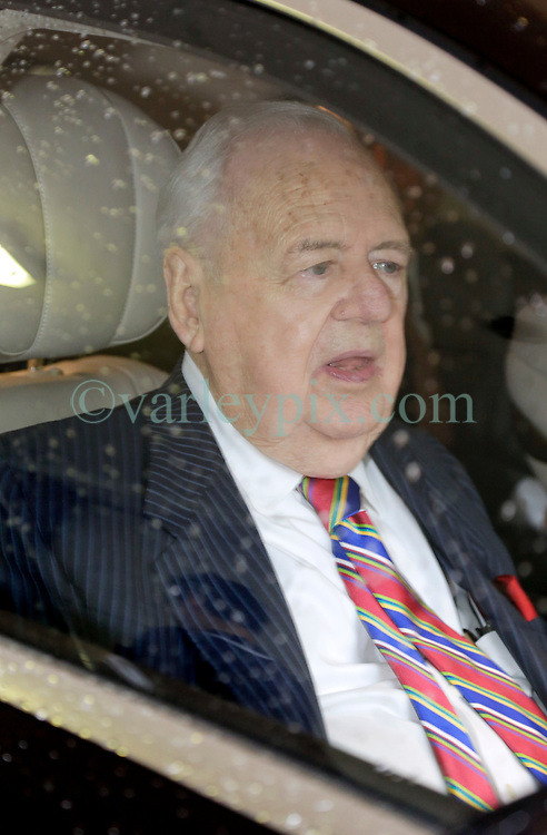 12 June  2015. New Orleans, Louisiana. <br /> Tom Benson, billionaire owner of the NFL New Orleans Saints, the NBA New Orleans Pelicans, various auto dealerships, banks, property assets and a slew of business interests leaves the New Orleans Civil District Court on the last day of the hearing to determine Benson's level of competency to manage his business empire. Benson changed his succession plans and  decided to leave the bulk of his estate to third wife Gayle, sparking a controversial fight over control of the Benson business empire.<br /> Photo©; Charlie Varley/varleypix.com