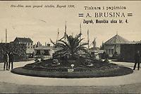 Hrv.-Slav. zem. gospod. izložba, Zagreb 1906.  <br /> <br /> ImpresumZagreb : Naklada papirnice A. Brusina, 1907.<br /> Materijalni opis1 razglednica : tisak ; 8,9 x 14 cm.<br /> SuradnikMosinger, Rudolf(1865.–1918.)<br /> NakladnikTiskara A. Brusina<br /> Mjesto izdavanjaZagreb<br /> Vrstavizualna građa • razglednice<br /> ZbirkaGrafička zbirka NSK • Zbirka razglednica<br /> ProjektPozdrav iz Hrvatske<br /> Formatimage/jpeg<br /> PredmetZagreb –– Grge Martića<br /> SignaturaRZG-MART-2<br /> Obuhvat(vremenski)20. stoljeće<br /> NapomenaRazglednica je putovala 1907. godine. • Na poleđini razglednice nalazi se obavijest o novoj lokaciji (od 1. veljače 1907.) Tiskare i Papirnice A. Brusine u Mesničkoj ulici br. 4. • U lijevom donjem kutu poleđine razglednice otisnut je monogram Rudolfa Mosingera.<br /> PravaJavno dobro<br /> Identifikatori000954489<br /> NBN.HRNBN: urn:nbn:hr:238:256443 <br /> <br /> Izvor: Digitalne zbirke Nacionalne i sveučilišne knjižnice u Zagrebu