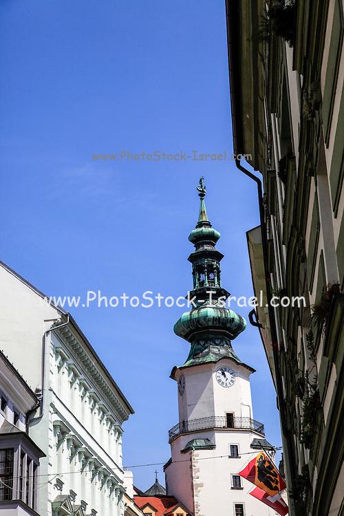 Slovakia, Bratislava,  st michael tower Historic center