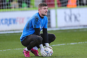 Forest Green Rovers goalkeeper Adam Smith(1) during the EFL Sky Bet League 2 match between Forest Green Rovers and Salford City at the New Lawn, Forest Green, United Kingdom on 18 January 2020.