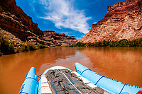 "Rafting into ""the Center of the Universe"" at the confluence of the Colorado and Green Rivers, Utah, USA"