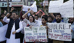 September 5, 2017 - Lahore, Punjab, Pakistan - Members of Pakistani civil society groups protest against the persecution of Myanmar's Rohingya Muslim minority. The UN refugee agency said some 123,000 Rohingya refugees have fled to Bangladesh since violence erupted in Myanmar on Aug. 25, 2017, and that established refugee camps were now at ''breaking point. (Credit Image: © Rana Sajid Hussain/Pacific Press via ZUMA Wire)