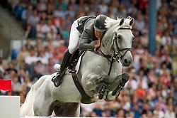 iAlvarez Moya Sergio, (ESP), Carlo 273<br /> Individual Final Competition round <br /> FEI European Championships - Aachen 2015<br /> © Hippo Foto - Jon Stroud<br /> 23/08/15
