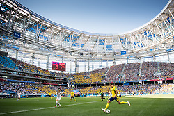 June 18, 2018 - Nizhny Novgorod, Russia - 180618 Ludwig Augustinsson of Sweden during the FIFA World Cup group stage match between Sweden and South Korea at Nizhny Novgorod Stadium on June 18, 2018 in Nizhny Novgorod..Photo: Petter Arvidson / BILDBYRN / kod PA / 92070 (Credit Image: © Petter Arvidson/Bildbyran via ZUMA Press)