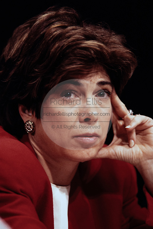 Council of Economic Advisers Chairwoman Laura Tyson testifies during a briefing on the economy March 11, 1995  in Washington, DC.