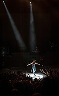Tim McGraw takes the stage during his concert at Verizon Wireless Amphitheater in Irvine, California.