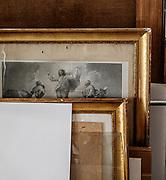 FLORENCE: restorer Rossella Rari's studio.