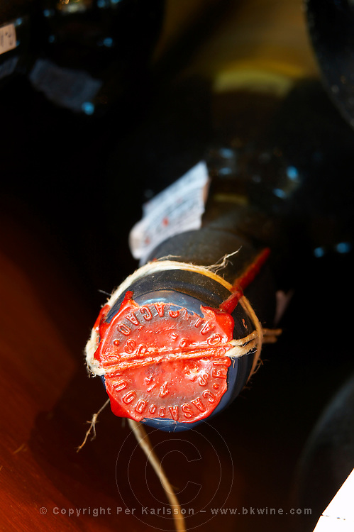 old bottle with wax seal quinta da gaivosa douro portugal
