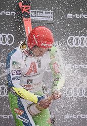 19.12.2018, Saalbach Hinterglemm, AUT, FIS Weltcup Ski Alpin, Riesenslalom, Herren, Flower Zeremonie, im Bild Sieger Zan Kranjec (SLO) // Winner Zan Kranjec of Slovenia during the Flowers ceremony for the men's Giant Slalom of FIS Ski Alpine World Cup. Saalbach Hinterglemm, Austria on 2018/12/19. EXPA Pictures © 2018, PhotoCredit: EXPA/ JFK