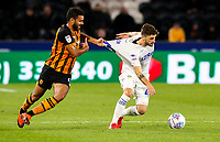 Leeds United's Mateusz Klich has his shirt pulled by Hull City's Kevin Stewart<br /> <br /> Photographer Alex Dodd/CameraSport<br /> <br /> The EFL Sky Bet Championship - Hull City v Leeds United - Tuesday 2nd October 2018 - KC Stadium - Hull<br /> <br /> World Copyright © 2018 CameraSport. All rights reserved. 43 Linden Ave. Countesthorpe. Leicester. England. LE8 5PG - Tel: +44 (0) 116 277 4147 - admin@camerasport.com - www.camerasport.com