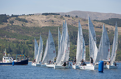 Sailing - SCOTLAND  - 25th-28th May 2018<br /> <br /> The Scottish Series 2018, organised by the  Clyde Cruising Club, <br /> <br /> First days racing on Loch Fyne.<br /> <br /> Hunter 707, Start<br /> <br /> Credit : Marc Turner<br /> <br /> <br /> Event is supported by Helly Hansen, Luddon, Silvers Marine, Tunnocks, Hempel and Argyll & Bute Council along with Bowmore, The Botanist and The Botanist
