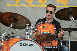 May 3, 2018 - New Orleans, Louisiana, U.S - STANTON MOORE during 2018 New Orleans Jazz and Heritage Festival at Race Course Fair Grounds in New Orleans, Louisiana (Credit Image: © Daniel DeSlover via ZUMA Wire)