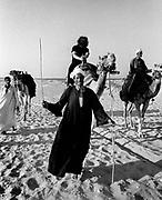 Jerry Garcia and a camel at Saqqara - The Grateful Dead Egypt 1978
