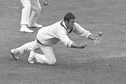 Hylton Ackerman, Northamptonshire, fielding at slip, drops a catch off Peter Parfitt, the Middlesex captain from the bowling of Haydn Sully.