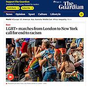 The Guardian newspaper cutting © Guy Bell, guy@gbphotos.com, 07771786236