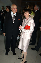 LORD WEIDENFELD and LADY ROTHSCHILD at the opening of 'Princely Splendour; The Dresden Court 1580-1620' a new temporary exhibition at The Gilbert Collection, Somerset House, London sposored by Hubert Bruda Media, The Schroder Family and WestLB AG on 8th June 2005.<br /><br />NON EXCLUSIVE - WORLD RIGHTS
