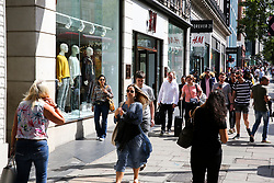 © Licensed to London News Pictures. 09/08/2019. London, UK. Shoppers on Oxford Street in London as UK retailers experience worst July since sales records began. Photo credit: Dinendra Haria/LNP