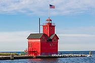 64795-03202 Holland Lighthouse (Big Red) on Lake Michigan Holland, MI