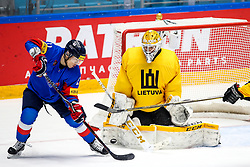Kisung Kim of South Korea vs Mantas Armalis of Lithuania during ice hockey match between South Korea and Lithuania at IIHF World Championship DIV. I Group A Kazakhstan 2019, on May 4, 2019 in Barys Arena, Nur-Sultan, Kazakhstan. Photo by Matic Klansek Velej / Sportida