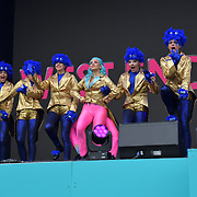 West End Kids performs at West End Live 2019 - Day 2 in Trafalgar Square, on 23 June 2019, London, UK.