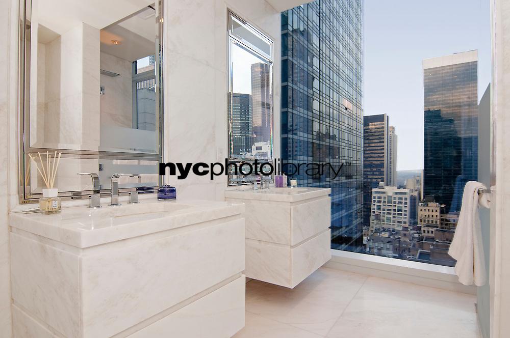 Bathroom at 20 West 53rd Street