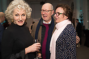 HARRIET SERGEANT; KEVIN PAKENHAM, ROSA MONCKTON;, Rachel Kelly celebrates the publication of ' Singing In the Rain' An Inspirational Workbook. 20 Cavendish Sq. London W1. 17 January 2019.