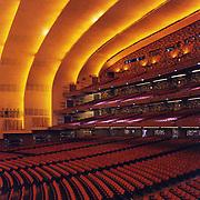 Seating area inside Radio City Music Hall.