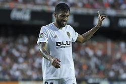 August 20, 2018 - Garay of Valencia in action during the spanish league, La Liga, football match between ValenciaCF and Atletico de Madrid on August 20, 2018 at Mestalla stadium in Valencia, Spain. (Credit Image: © AFP7 via ZUMA Wire)