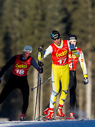 Tomaz Seme of SSK Racna, Jaka Zupan of SK Triglav and Urh Krajncan  of SSK Velenje during cross country race for Slovenian National Nordic combined Championship, on January 5, 2011 at Rudno polje, Pokljuka, Slovenia. (Photo by Vid Ponikvar / Sportida.com)