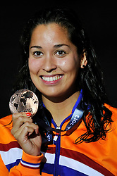 02.08.2013, Barcelona, ESP, FINA, Weltmeisterschaften für Wassersport, Medailliengewinner, im Bild Ranomi Kromowidjojo, from Netherlands, bronze medal at 100m Freestyle Women Finalist Victory Ceremony // during the FINA worldchampionship of waterpolo, medalists in Barcelona, Spain on 2013/08/02. EXPA Pictures © 2013, PhotoCredit: EXPA/ Pixsell/ HaloPix<br /> <br /> ***** ATTENTION - for AUT, SLO, SUI, ITA, FRA only *****