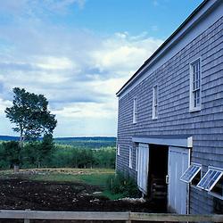 New Gloucester, ME.The barnyard at the Sabbathday Lake Shaker Village.