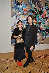 """SHONAGH MARSHALL curator of the exhibition and GARETH PUGH at a private view of work by Matthew Stone """"Healing The Wounds' held at Somerset House, The Strand, London on 4th July 2016."""