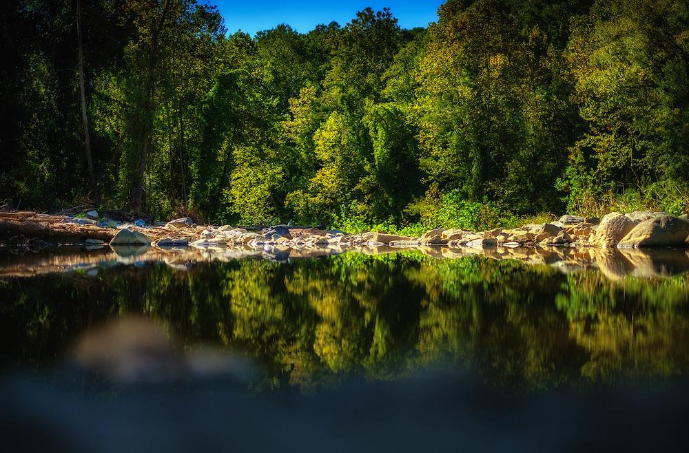 Patapsco Reflection at Oella, Maryland. Shot on a Fuji X-Pro 2.