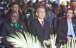 LUSAKA, Sept. 13, 2016 (Xinhua) -- Chinese President Xi Jinping's Special Envoy, vice chairman of the National Committee of the Chinese People's Political Consultative Conference Ma Biao(C) attends the inauguration ceremony of Zambian President-elect Edgar Lungu in Lusaka, Zambia on Sept. 13, 2016. Zambian President-elect Edgar Lungu was on Tuesday inaugurated for his five year mandated in office during a grand ceremony held in Lusaka, the country's capital. (Xinhua/Peng Lijun) (Credit Image: © Peng Lijun/Xinhua via ZUMA Wire)