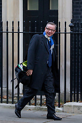 © Licensed to London News Pictures. 26/11/2013. London, UK. The Education Secretary, Michael Gove, arrives for a meeting of British Prime Minister David Cameron's Cabinet on Downing Street in London today (26/11/2013). Photo credit: Matt Cetti-Roberts/LNP