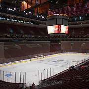 A general view of the Wells Fargo Center before the start of the game. <br /> Philadelphia Flyers vs. Dallas Stars  at Wells Fargo Center in Philadelphia Pennsylvania. March 20, 2014.<br /> <br /> (Jack Megaw/www.jackmegaw.com)<br /> <br /> <br /> <br /> ©Jack Megaw, 2014. <br /> ALL RIGHTS RESERVED. NO UNPAID USE.