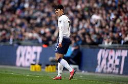 Tottenham Hotspur's Son Heung-min during the Premier League match at Wembley Stadium, London.