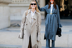 Street style, Tine Andrea and Darja Barannik arriving at Paco Rabanne spring summer 2019 ready-to-wear show, held at Grand Palais, in Paris, France, on September 27th, 2018. Photo by Marie-Paola Bertrand-Hillion/ABACAPRESS.COM