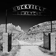 Entrance to the Rockville Cemetery in Rockville, Utah.