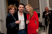 Samantha Bond; Alex Hanson; Fiona Penny, First night for 'An Ideal Husband' by Oscar Wilde ÐThe play opened at The Vaudeville Theatre with a party after  Kettners, Soho. 10 November 2010. . -DO NOT ARCHIVE-© Copyright Photograph by Dafydd Jones. 248 Clapham Rd. London SW9 0PZ. Tel 0207 820 0771. www.dafjones.com.<br /> Samantha Bond; Alex Hanson; Fiona Penny, First night for 'An Ideal Husband' by Oscar Wilde –The play opened at The Vaudeville Theatre with a party after  Kettners, Soho. 10 November 2010. . -DO NOT ARCHIVE-© Copyright Photograph by Dafydd Jones. 248 Clapham Rd. London SW9 0PZ. Tel 0207 820 0771. www.dafjones.com.