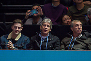 West Ham manager Manuel Pellegrini  (centre) during the Nitto ATP World Tour Finals at the O2 Arena, London, United Kingdom on 13 November 2018.Photo by Martin Cole