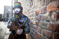 © Licensed to London News Pictures. 16/01/2016. Whittlesey UK. Picture shows Gog Magog Molly dancers at The 37th Straw Bear festival takes place this weekend in Whittlesey. It was the custom to dress one of the confraternity of the plough in straw & call him a Straw Bear, He was made to dance in front of houses & gifts of money or beer & food for later consumption was expected. The present Straw Bear dances through the streets accompanied by his handler & numerous dancers such as Pig Dyke Molly & The Bourne Borderers. Photo credit: Andrew McCaren/LNP