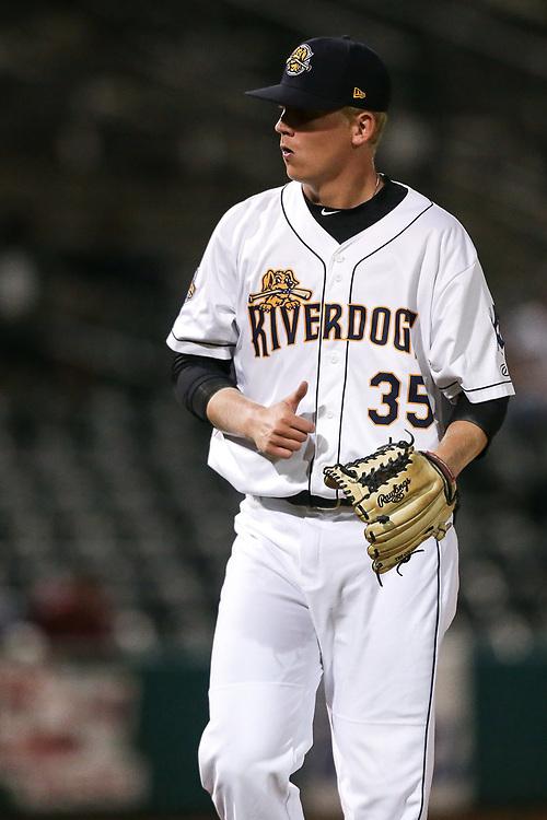 Charleston RiverDogs' pitcher Chad Martin (35)<br /> Columbia Fireflies vs. Charleston RiverDogs at Joseph P. Riley Ballpark in Charleston, S.C. on Tuesday, May 29, 2018.<br /> Zach Bland/Charleston RiverDogs