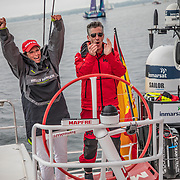 Newport stopover. Pro-Am 3 & 4 on board MAPFRE. 17 May, 2018.